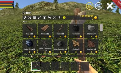 荒岛生存模拟3D无限金币版