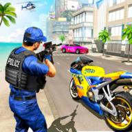美国警察摩托追逐中文版