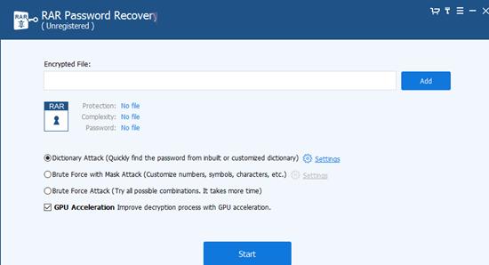 rar password recovery中文版