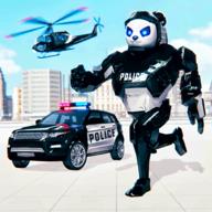 警察熊猫机器人无限金币版