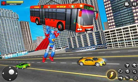飞行英雄机器人车