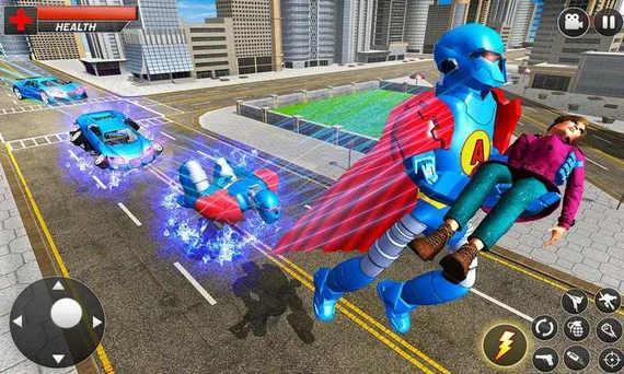 飞行英雄机器人车破解版