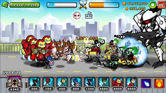 英雄战争超级火柴人防御最新无敌版