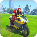 超级英雄摩托车特技游戏