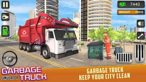 垃圾车驾驶模拟器手游破解版