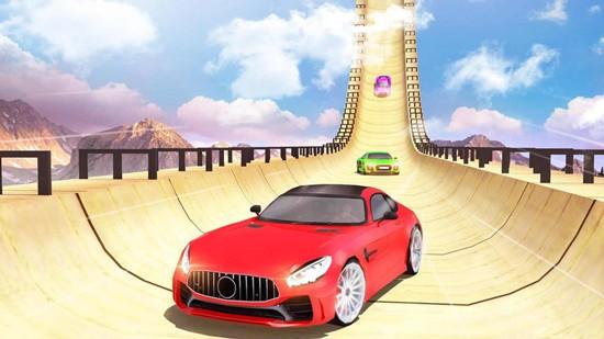 超级斜坡汽车特技赛车游戏破解版