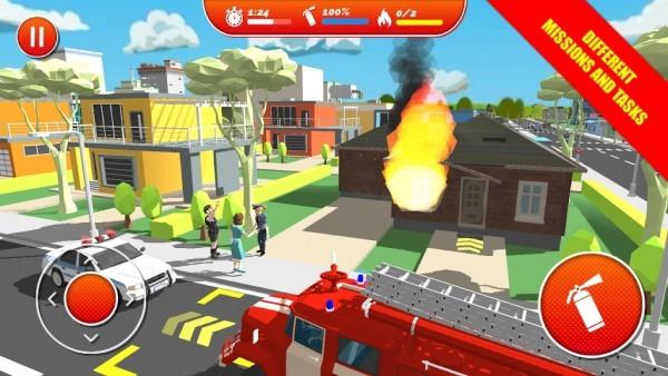 逼真的城市消防员安卓版
