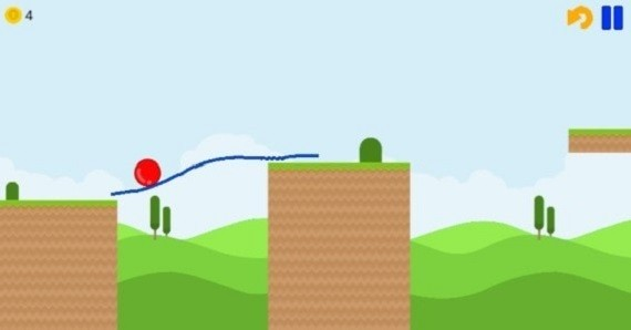 画线小球游戏